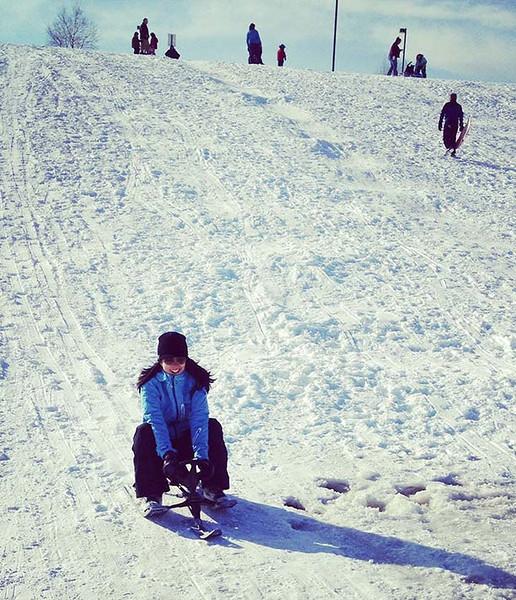 Sledding in Anchorage in April (Photo: Tristan Olson)