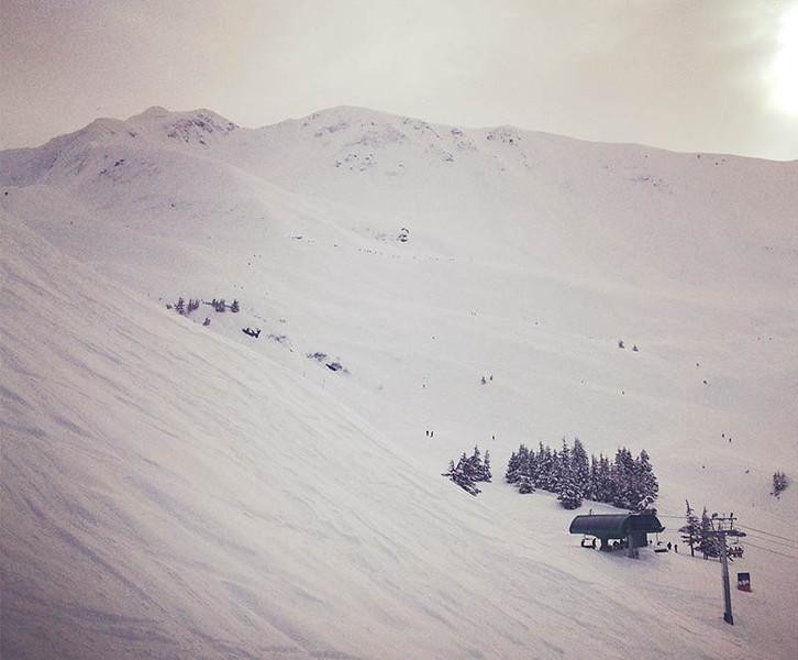 Snowy ski slopes of Alyeska. (Photo: Kim Olson)
