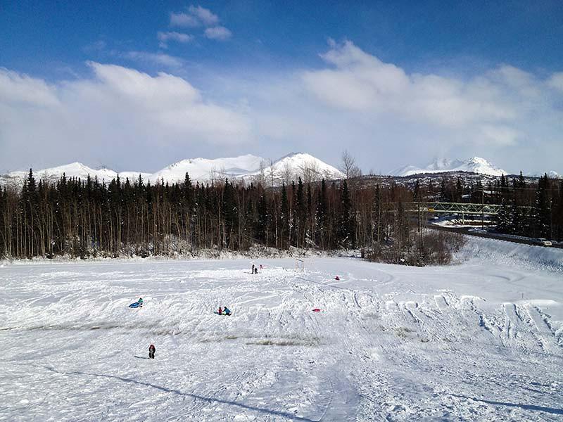 Sledding hill in Anchorage, Alaska (Photo: Kim Olson)