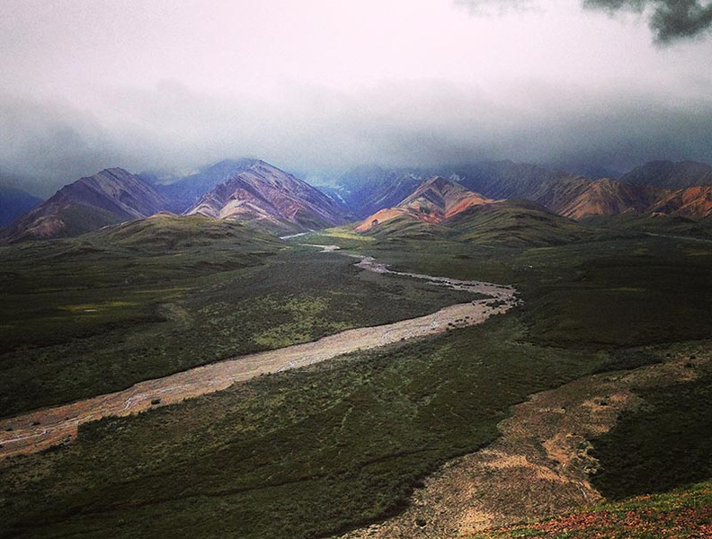 Polychrome Pass in Denali National Park, Alaska