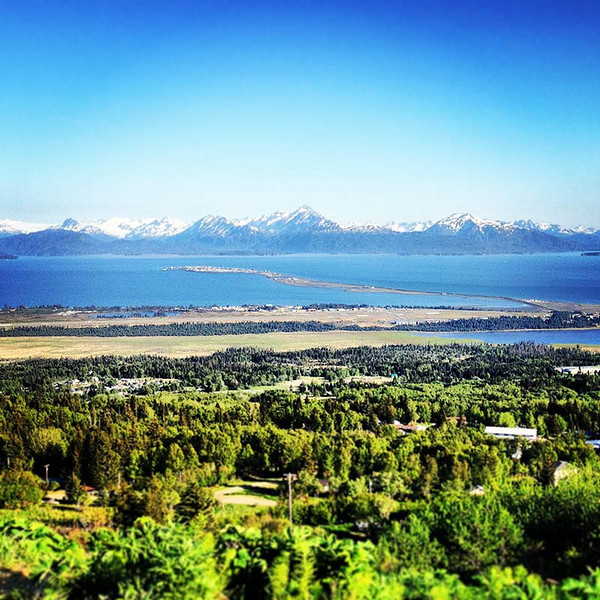 Overlooking Homer and the spit in Alaska (Photo: Kim Olson)