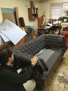 buttoned sofa antique reclamation