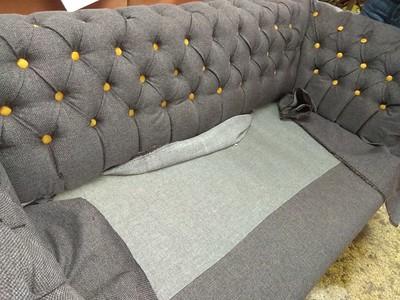 antique sofa tufted buttoned