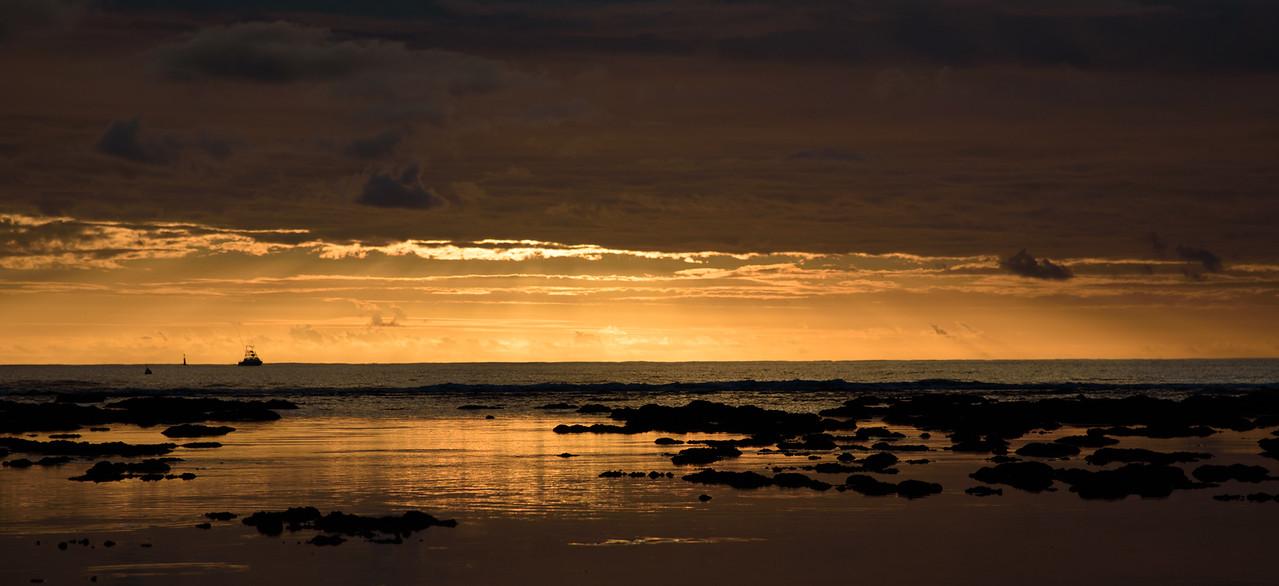Coucher du soleil à la Réunion