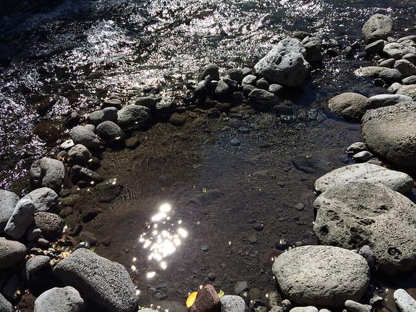 reflet du soleil à la rivière