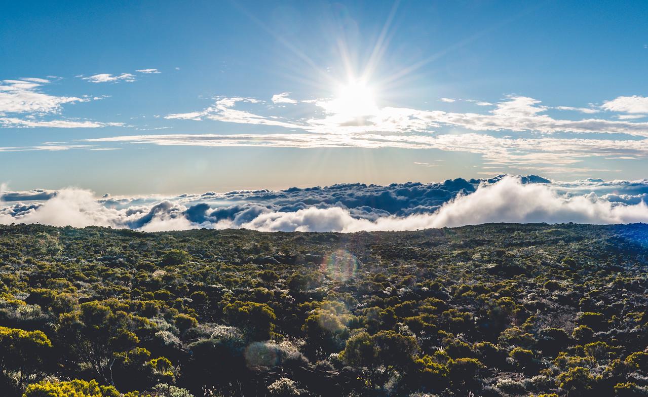 Soleil au volcan