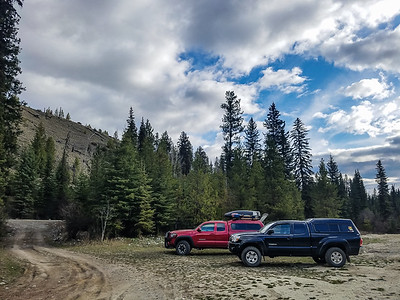 Two Tacomas somewhere in southern BC