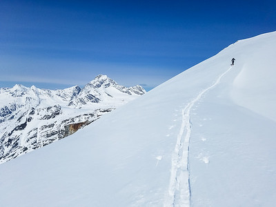 Nearing the summit of Youngs Peak, Canada
