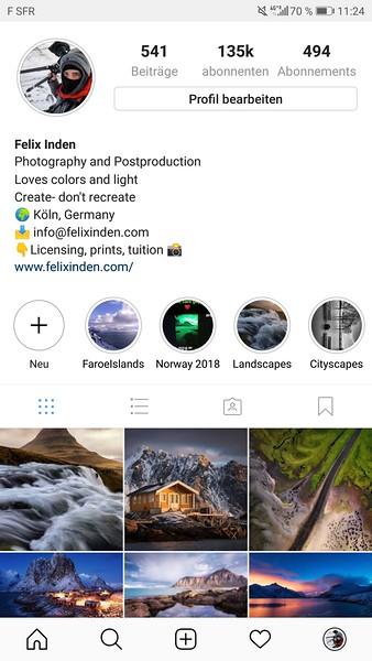 How to build up your Instagram as a landscape photographer - Felix