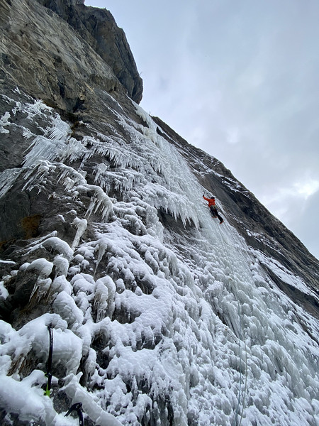 Second pitch on good ice