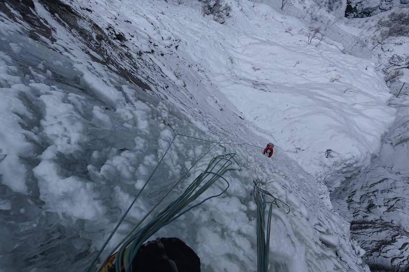 On top of second pitch