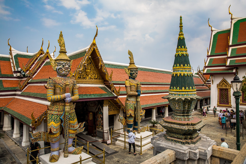 a view of the inner compound of the Grand Palace