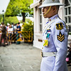 a royal guard at The Grand Palace