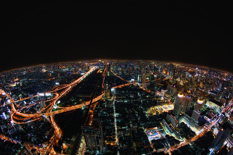 a view of Bangkok from the Baiyoke Sky Hotel