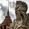 a statue decorating the Grand Palace