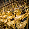 the Garuda clutching the Naga serpent, decorating the Temple of the Emerald Buddha