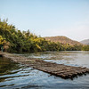 bamboo dock on the river Kwai