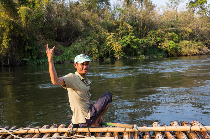 our guide who paddled us down the river Kwai on a bamboo raft