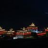 Tashichho Dzong at night
