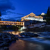 Paro Dzong during blue hour