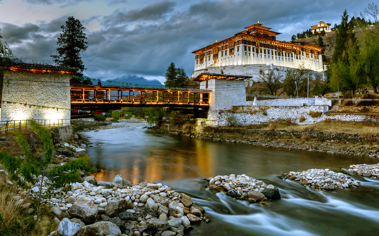 Paro Dzong at sunset