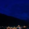 Tashichho Dzong during blue hour