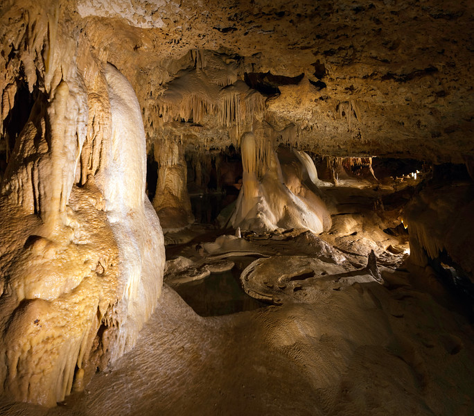 Inner Space Caverns. 14 photo panorama