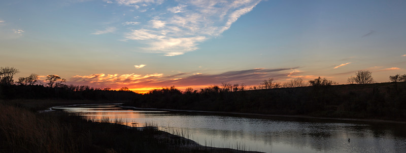 Sunset on the Robinson Park trail, Seabrook, Texas