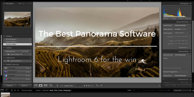 best panorama software is lightroom 6