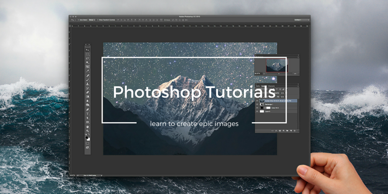 best photoshop CC tutorials for beginners landscape blog post