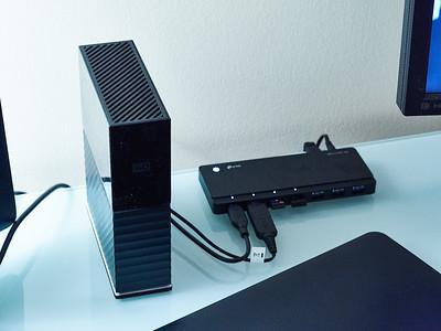 Keep it simple! One big, proper external desktop hard drive!