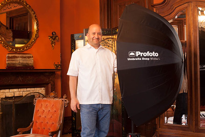 Way back in 2014 with the enormous Profoto Umbrella Deep White - Large. I believe Profoto was the first to pioneer deep umbrellas.