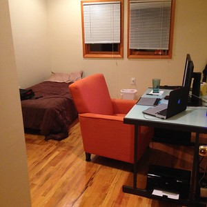 My first NYC room. It was actually nice. Had AC!