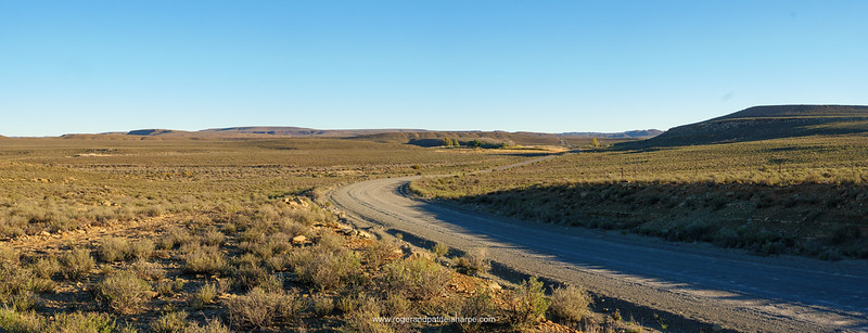 Roadside scene near Fraserburg. Northern Cape. South Africa.