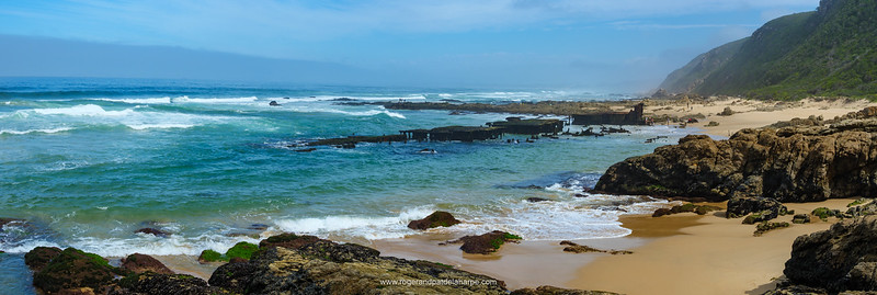 The wreck of a floating dock some 2km to the east of Glentana. Garden Route. Western Cape. South Africa