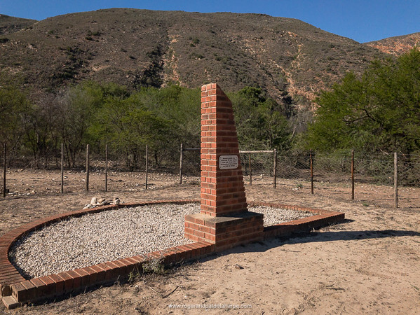 Campell Monument was erected by the farming community to commemorate the lives lost in the 1916 flood. Baviaanskloof. Eastern Cape. South Africa
