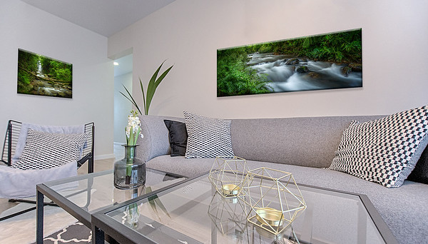Forest Prints in a Modern Sitting room