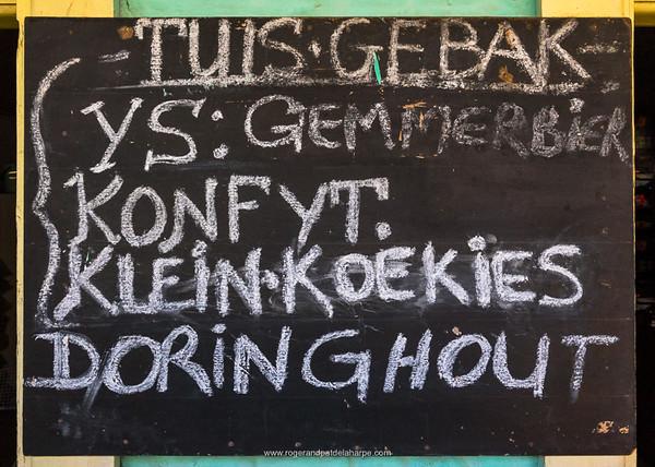 """Specials"" at Babes Se Winkel rural store. Baviaanskloof. Eastern Cape. South Africa"