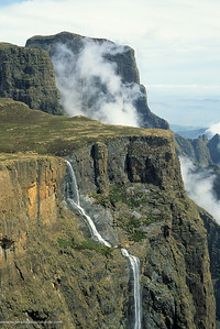Tugela Falls. On top of Amphitheatre At Royal Natal NP uKhahlamba - Drakensberg Park. KwaZulu-Natal. South Africa.