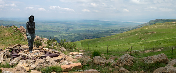 Kaalvoet Vrou Monument. Free State. South Africa