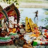 Hindu idols and statues by the Yamuna. Fuji X-Pro 1, 60mm, F/10, 1/125th, ISO 200.