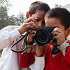 Naresh helping his brother Jataayu find and push the shutter button of the Fuji X-Pro 1. Fuji X 100s, 23mm, F/11, 1/60th, ISO 200.