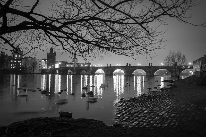 Early morning view of the Charles Bridge, Prague. 75 sec at f/16, ISO 200, 18mm