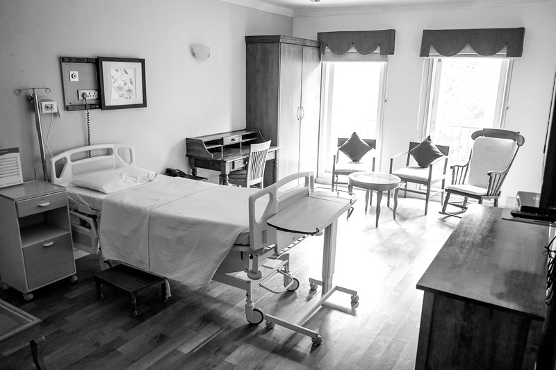 "We went on a hospital tour. Like many things in India, there are 4 classes of recovery rooms: Standard, Deluxe, Super Deluxe and Suite. Pictured is half of ""The Suite."""