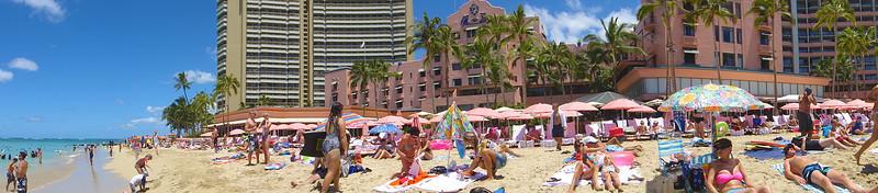 Waikiki Beach and Royal Hawaiian - Honolulu, Hawaii