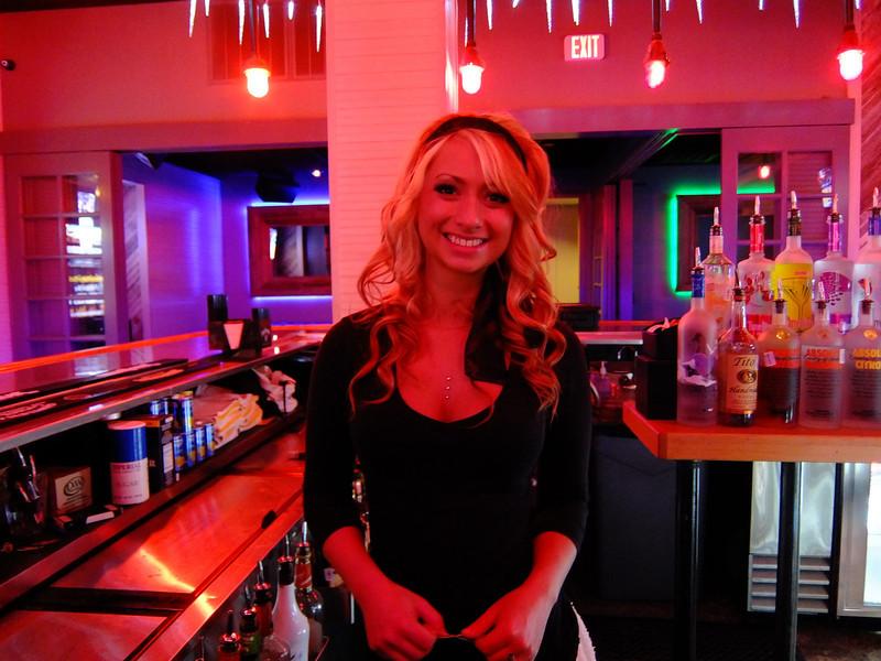 Kasie at the Bourbon Girl - Austin, Texas (no flash, Fuji XF1)