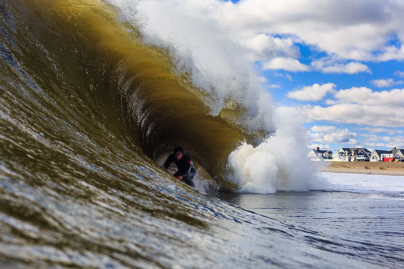 A day where I would have gotten smoked trying to surf but Shane Hueth  had no problem locking into this one.