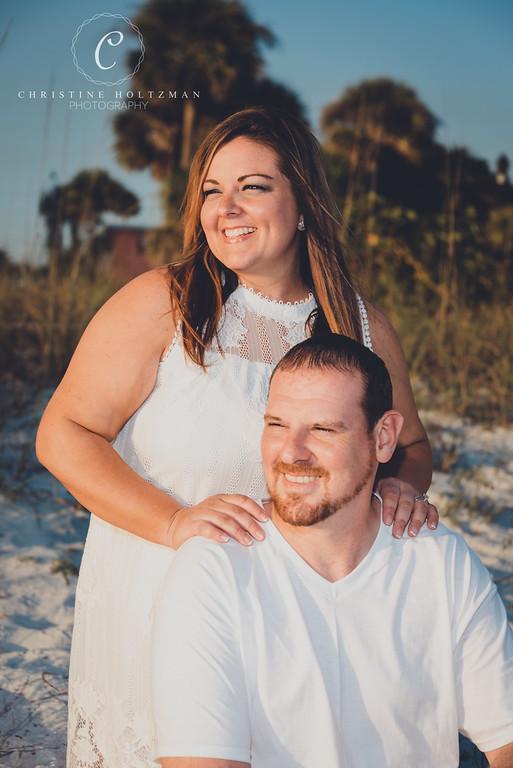 Couple's portrait on St. Pete Beach