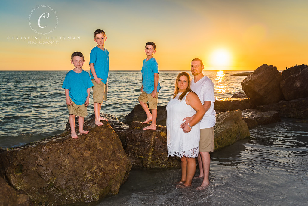 A Sunset Family Portrait Session on St. Pete Beach