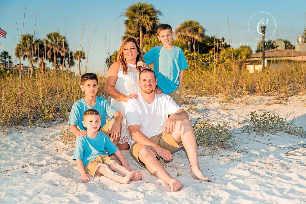 A Fun Family Portrait Session on St. Pete Beach